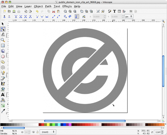 Inkscape with bitmap clip art