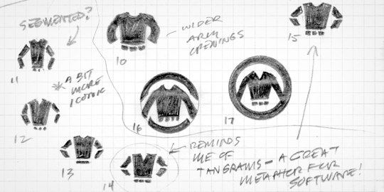 Red Sweater Logo Sketches v1