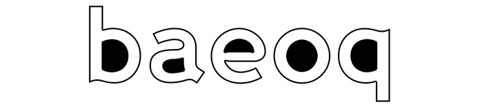 Illustrazione che mostra i counter in 'b', 'a', 'e', 'o' e 'q' in Wellcome Bold
