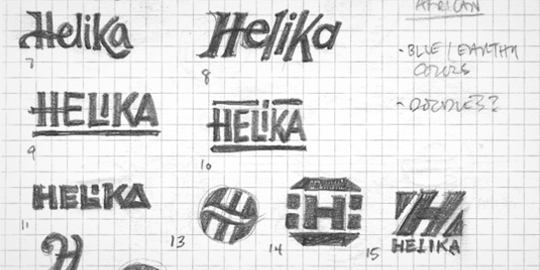 Helika Logo Sketches