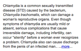 Copy from CDC Fact Sheet of Chlamydia