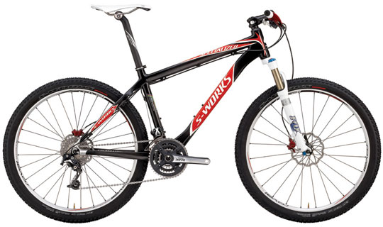 Image of mountain bike from Specialized catalog, shot against a white background with no foreground, showing only the bike.