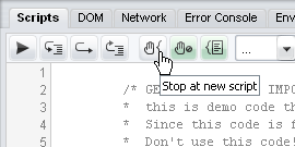 Dragonfly's stop at new script button