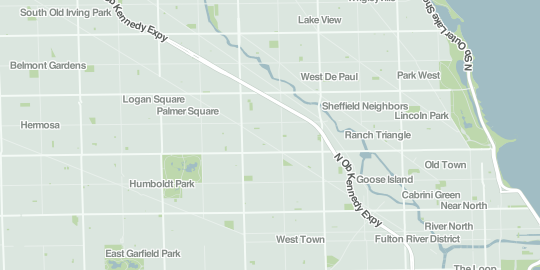 Screenshot of map tile at city-wide zoom