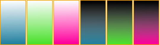 Six PNG gradients that scale with their parent elements.