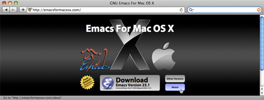 EMACS for OS X site