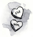 Candy Hearts: CSS and XHTML