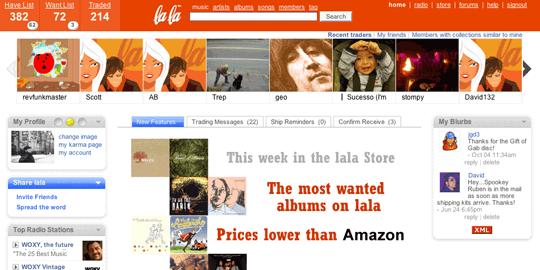 Lala homepage