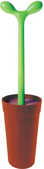 Stefano Giovannoni's Merdolino, toilet brush, 1993. Courtesy of Alessi