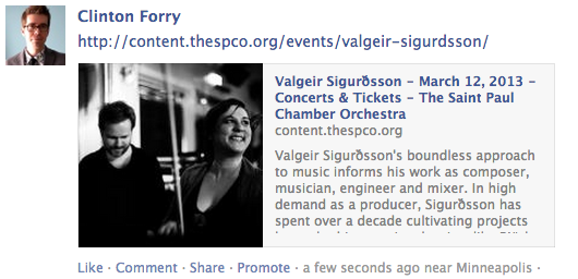 Facebook link to the St. Paul Chamber Orchestra website