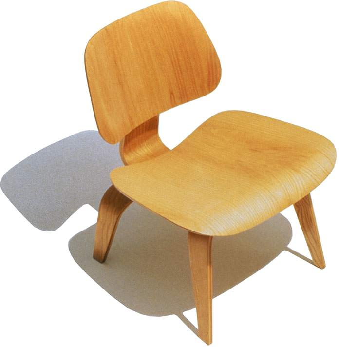 Herman Miller molded plywood chair by Charles and Ray Eames.