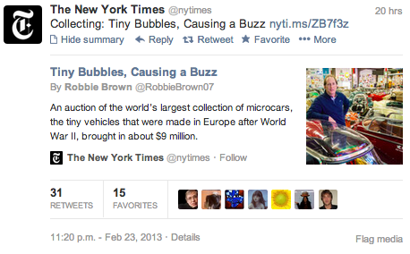Twitter card for a New York Times article link