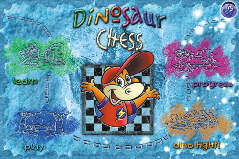 Screenshot of the Dinosaur Chess homescreen