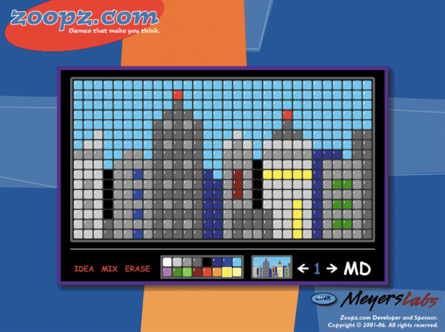 Screenshot of a Zoopz.com mosaic