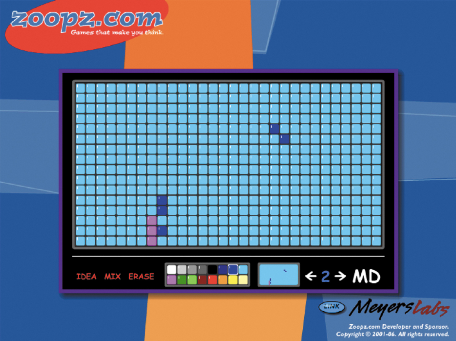 Screenshot of a Zoopz.com mosaic being created