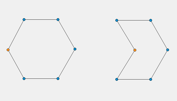 Image showing the result of changing the coordinate of a point on the created shape.