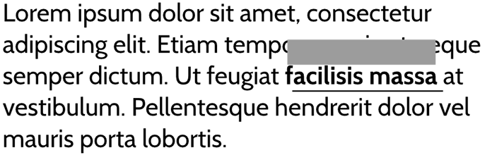 Diagram showing inline elements with margin.
