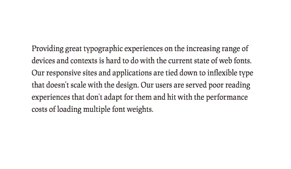 A paragraph typeset in the display version of JAF Lapture, illustrating how the text version reads better.