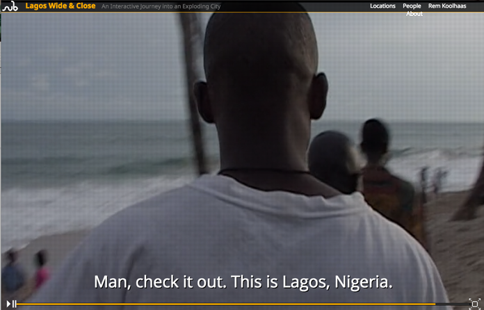 Screenshot from the 'Lagos Wide & Close' documentary site.