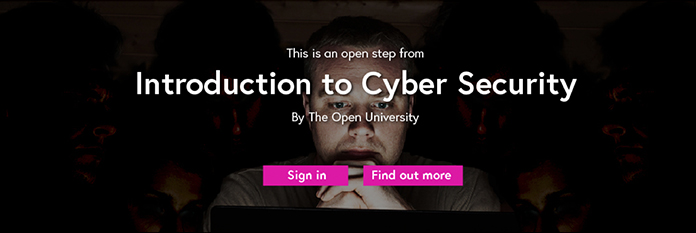 Screenshot of a module promoting an online course in cyber security.