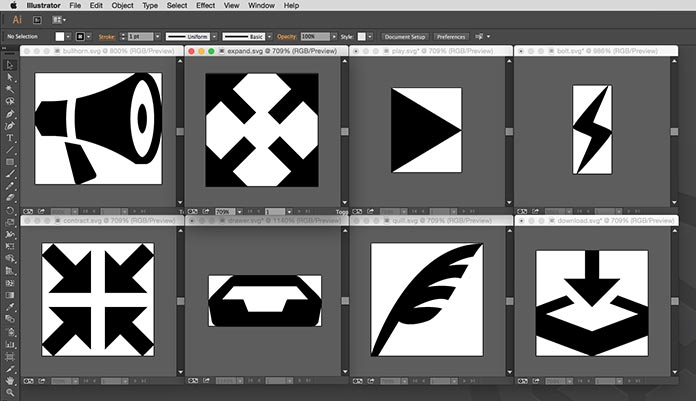 Adobe Illustrator graphics cropped to their edges