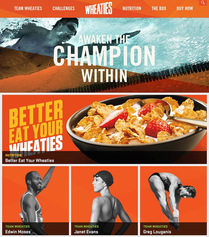 Wheaties Page Design