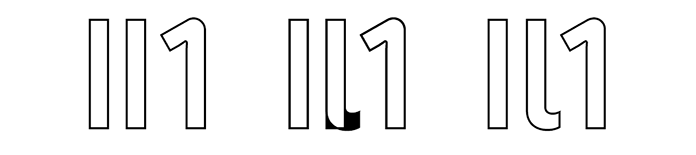 Illustration showing examples of capital 'I', lowercase 'l', and numeral '1'