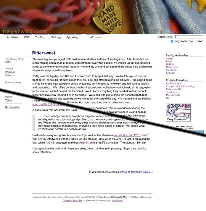 Screenshot of web page