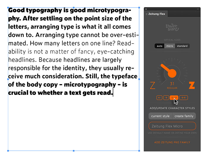 User Interfaces for Variable Fonts – A List Apart