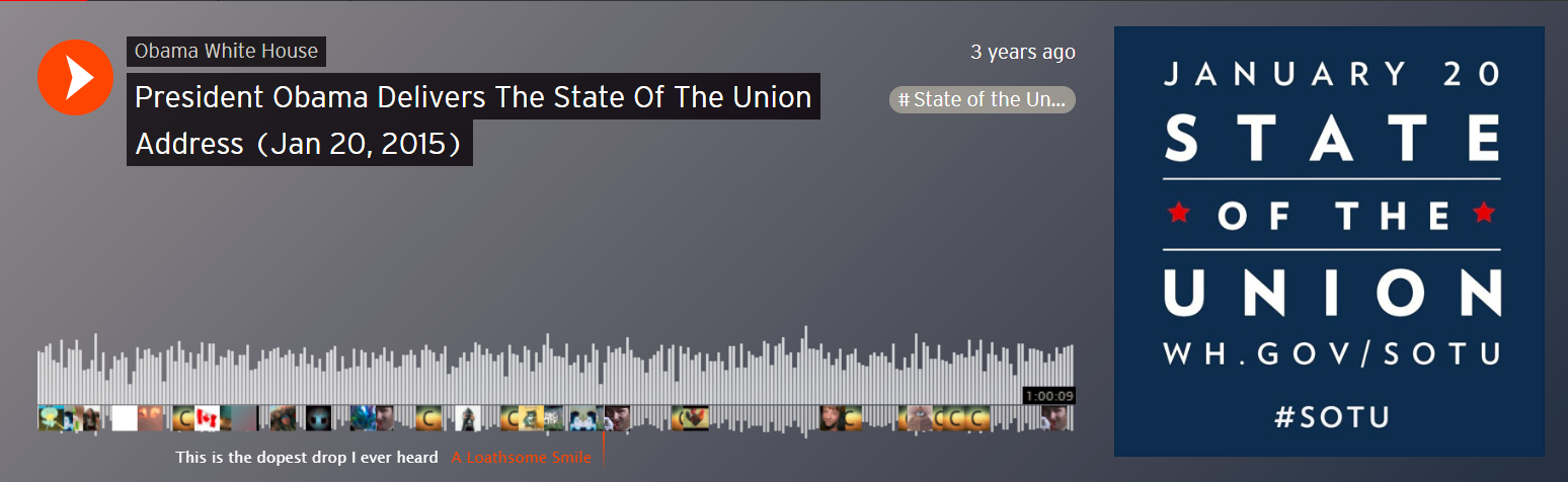 Screenshot of a Soundcloud audio file with little icons scatter about the timeline