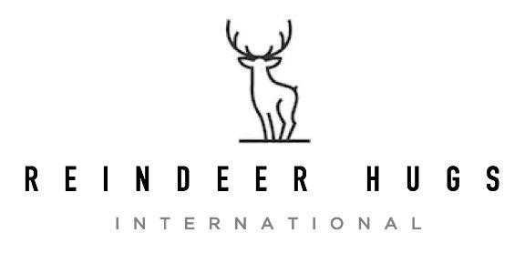 The very reputable-looking logo of Reindeer Hugs International. It seems legit.