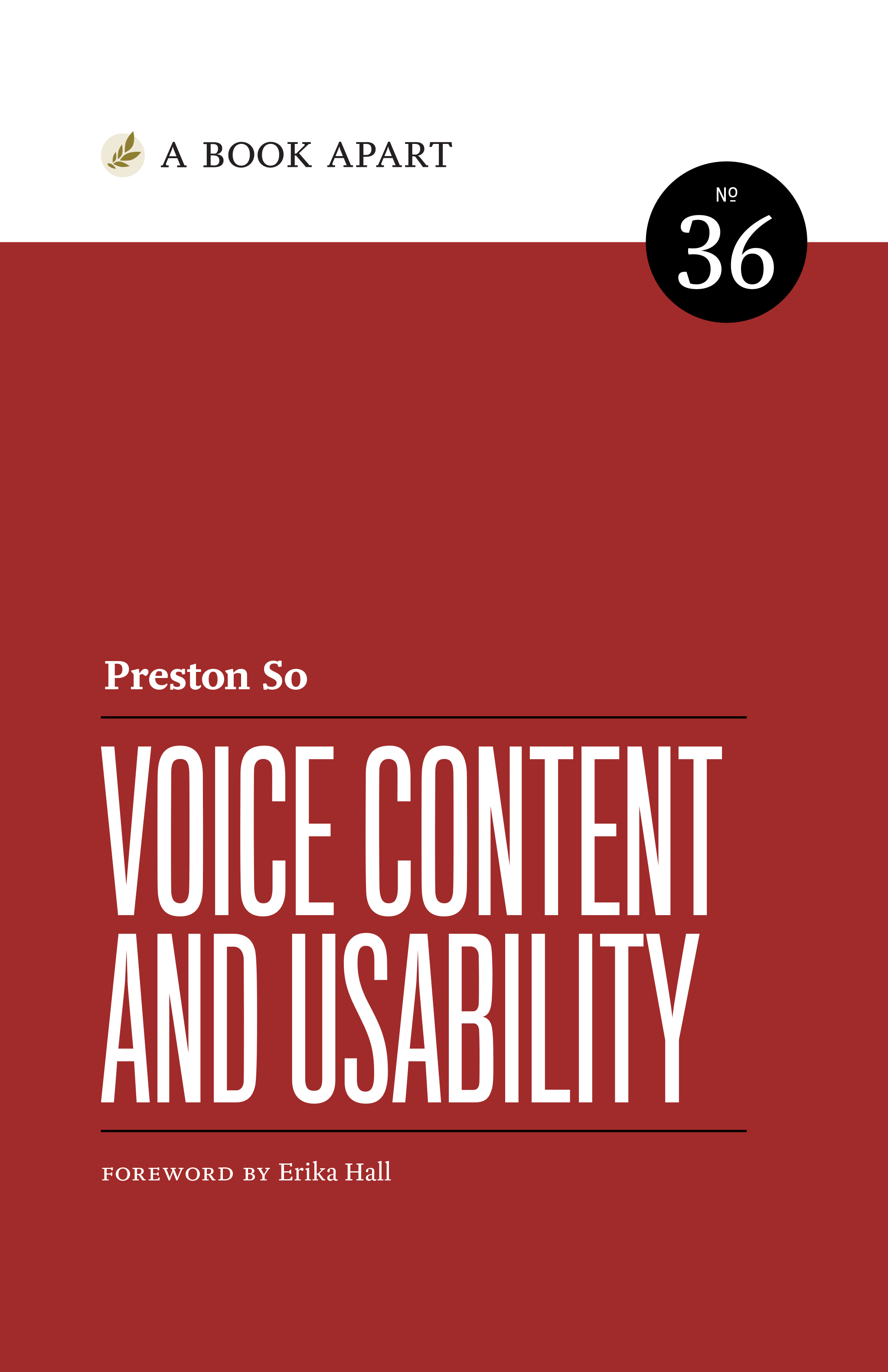 Book Cover: Voice Content and Usability